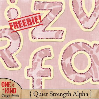 http://oneofakindds.blogspot.com/2009/07/quiet-strength-alphabet-freebie.html