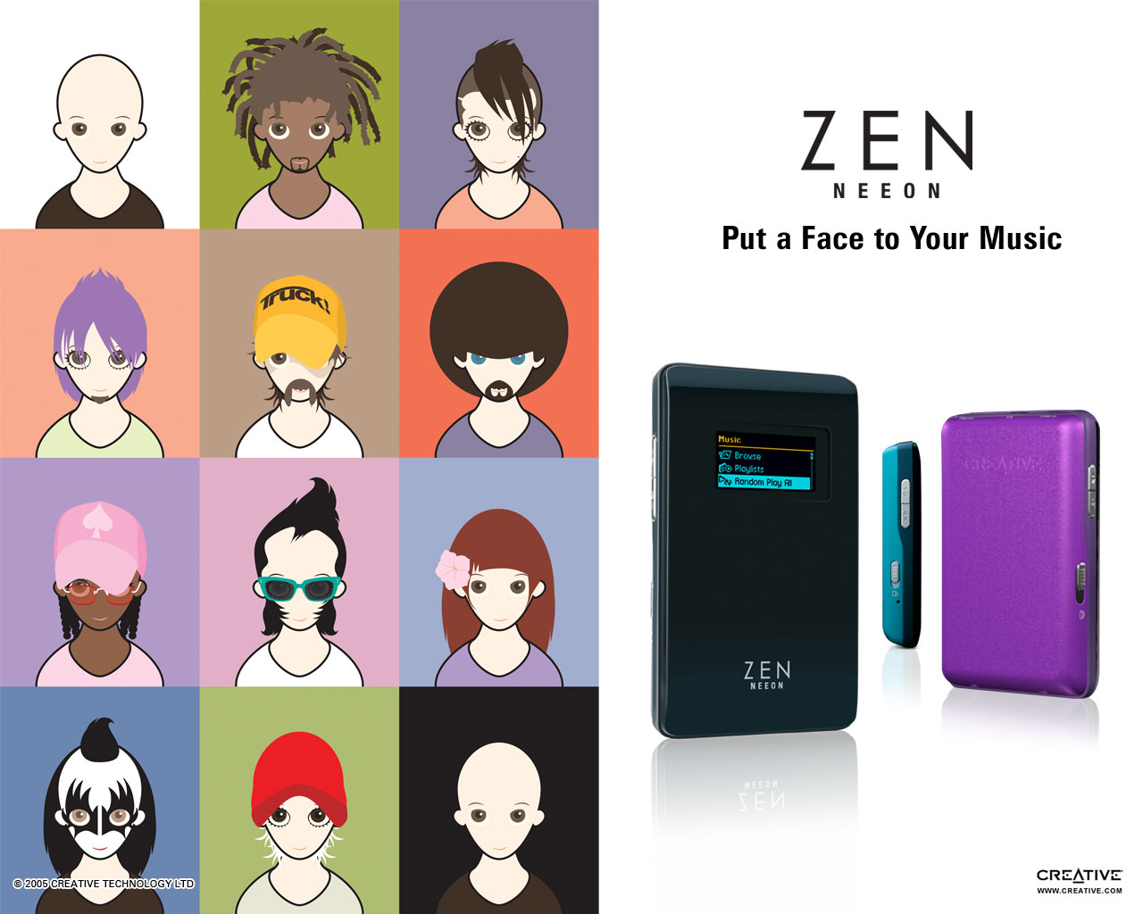 Creative Zen Neeon 512MB 1GB 2GB