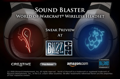 New Sound Blaster World Of Warcraft Wireless Headset @ BlizzCon 2009