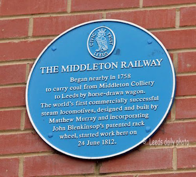 Middleton Railway Blue Plaque