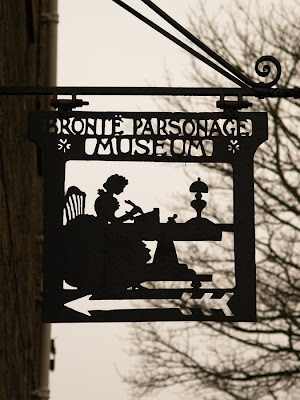 Bronte sign Haworth Parsonage Museum Yorkshire