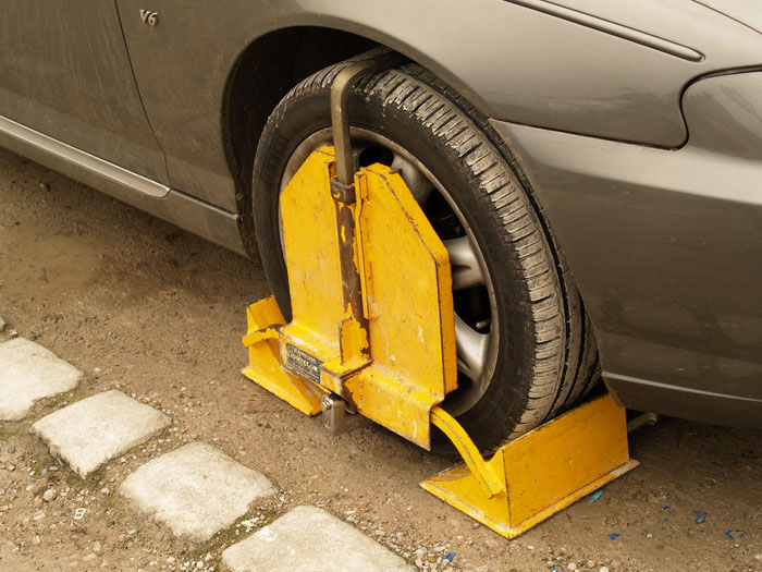 Clamped Car Haworth Yorkshire