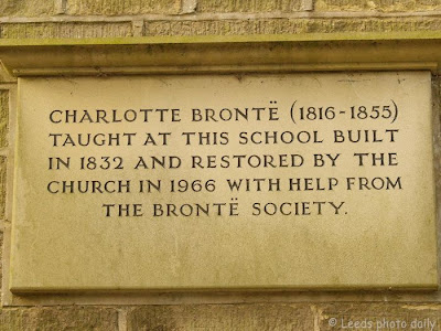 Charlotte bronte Sunday School Plaque