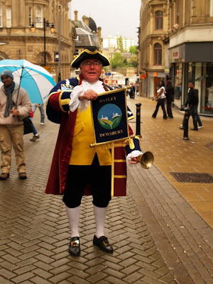Batley and Dewsbury town crier Laurie Gilbert