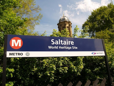 Saltaire Train Station Sign
