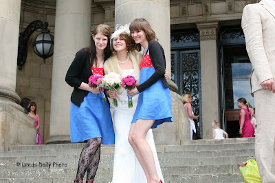 Wedding Leeds Town Hall Bride Bridesmaids