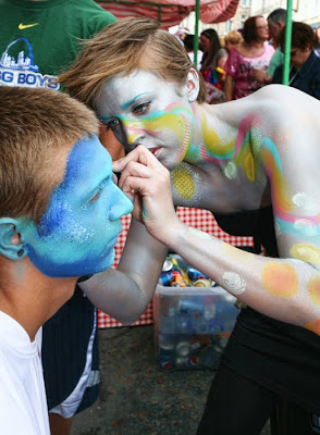 Leeds Pride Face Painting