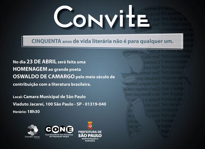 Oswaldo De Camargo Homenagem Aos 50 Anos De Contribuição Com A