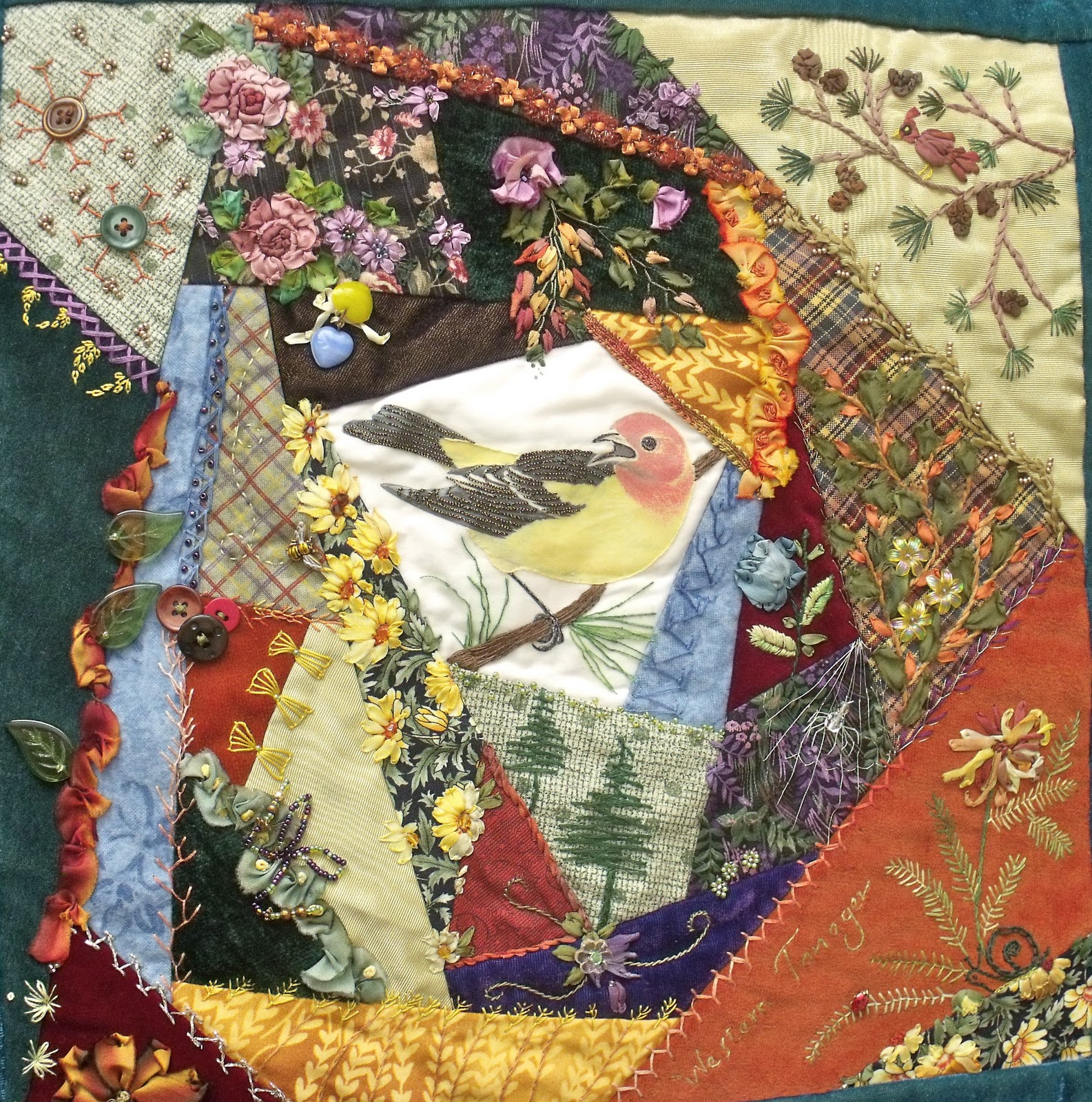 Crazy Quilt Pattern Images : Quilt - Crazy and Embelished on Pinterest Crazy Quilting, Label Machine and Crazy Quilt Blocks