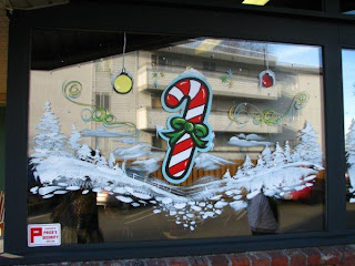 Dobell signs christmas xmas windows