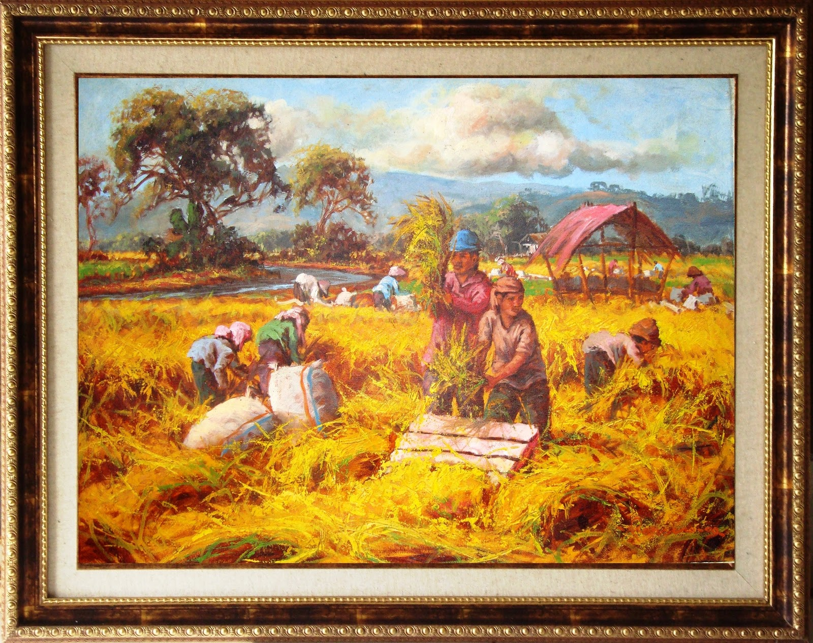 karya parsono 80x100cm include frame oil on canvas 2010(SOLDOUT)