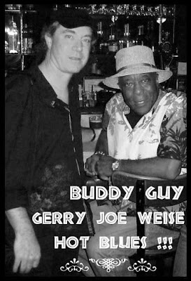 Blues guitarists Buddy Guy and Gerry Joe Weise, Chicago Illinois USA