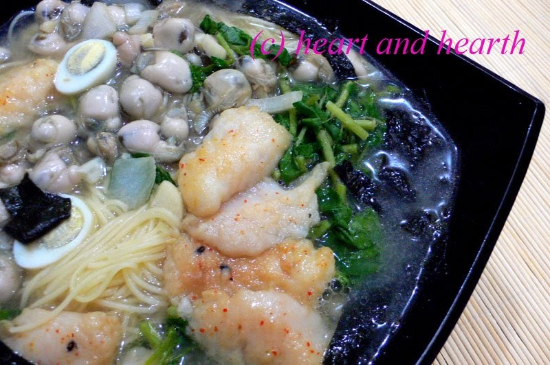 Heart and Hearth: Seafood and Noodles in Miso Soup