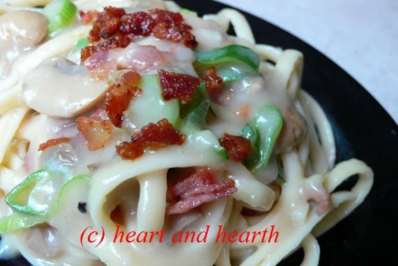 Leek And Bacon Carbonara Recipe — Dishmaps