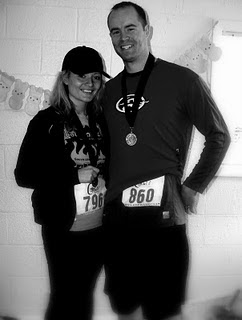 My husbands 1st half marathon