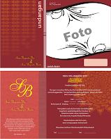 Contoh Undangan Pernikahan Warna Merah ~ Contoh Desain