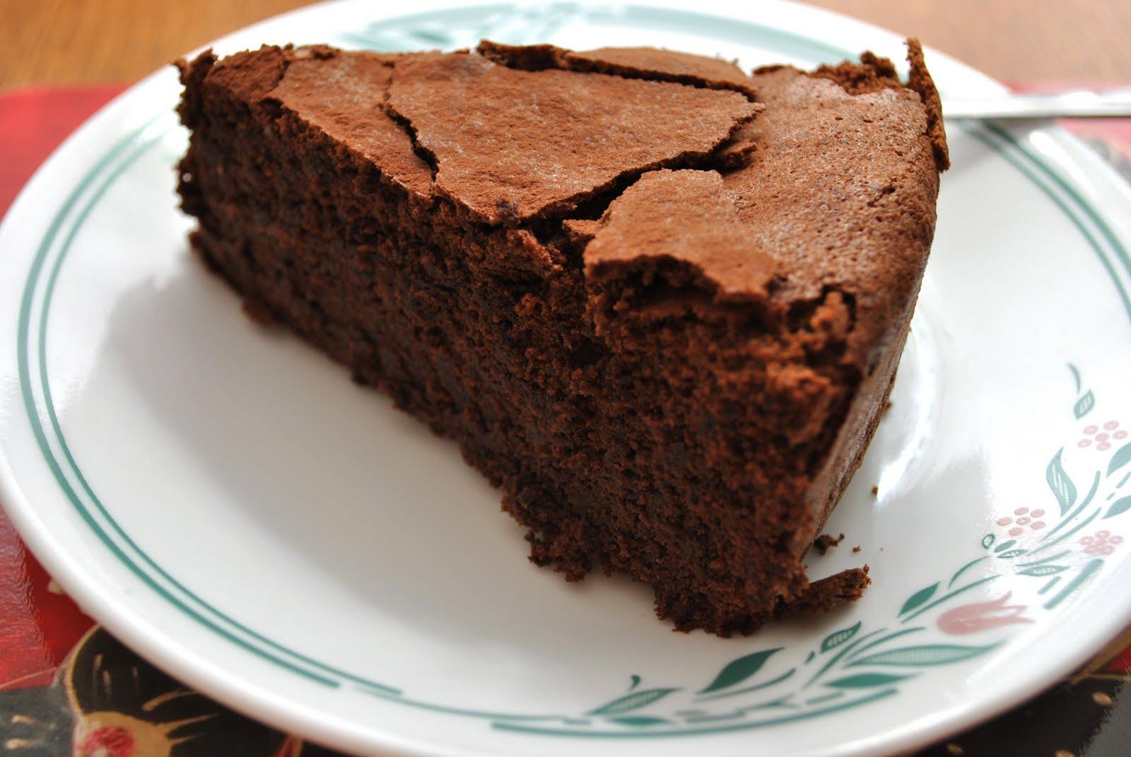 chocolate cake I like to use real chocolate, that is dark chocolate ...