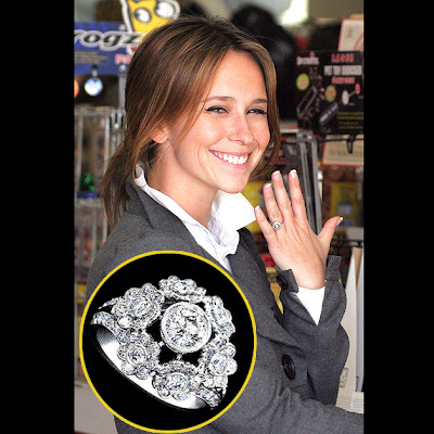 Celebrity Jennifer Love Hewitt engagement ring. Jessica Alba Size: 5 carats