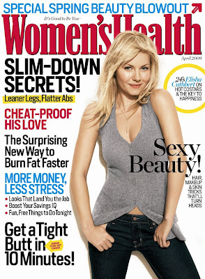 Elisha Cuthbert Women's Health cover Photo, Elisha Cuthbert is Covergirl of Women's Health Magazine For April 2009, Elisha Cuthbert  Cover Women's Health Magazine 2009