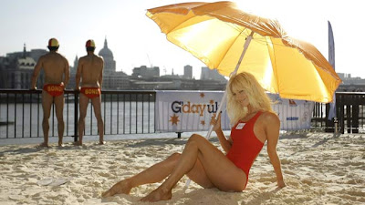 Bondi Beach Theme in London to promote Australia