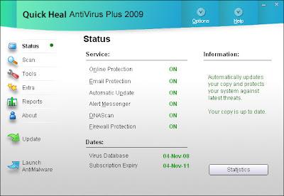 free antivirus software download quick heal
