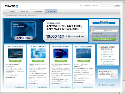 www.chase.com Creditcards payment