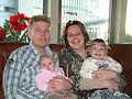 Ons gezinnetje. Kerst 2008