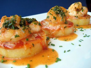 ... : Food For Thought Thursday:Smoky Shrimp and Parmesan Polenta Cakes