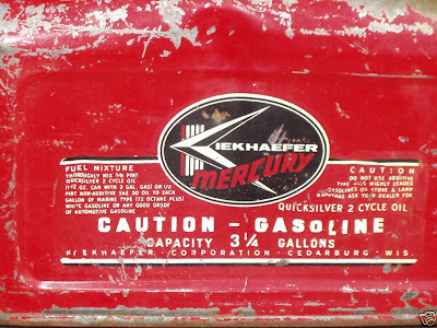 Tanks on Bangdammit  Vintage Kiekhaefer Mercury 3 1 4 Gal Outboard Gas Tank