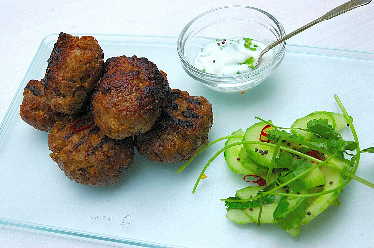 moroccan grilled lamb kefta brochettes recipe dishmaps