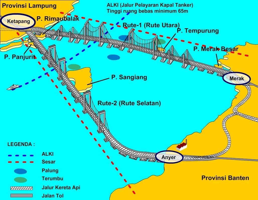 jembatan selat sunda Indonesia akan miliki jembatan terpanjang di Dunia