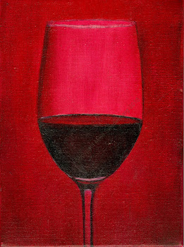 "Wine glass 6"" x 8:"" Oil on Linen"