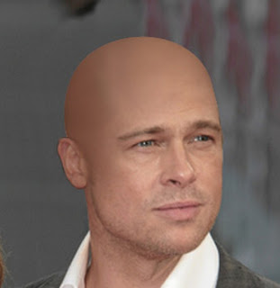 For Brad pitt shaved pity, that now