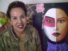 A Japonesa téc acrílico sobre tela aluna Zelia Lopes