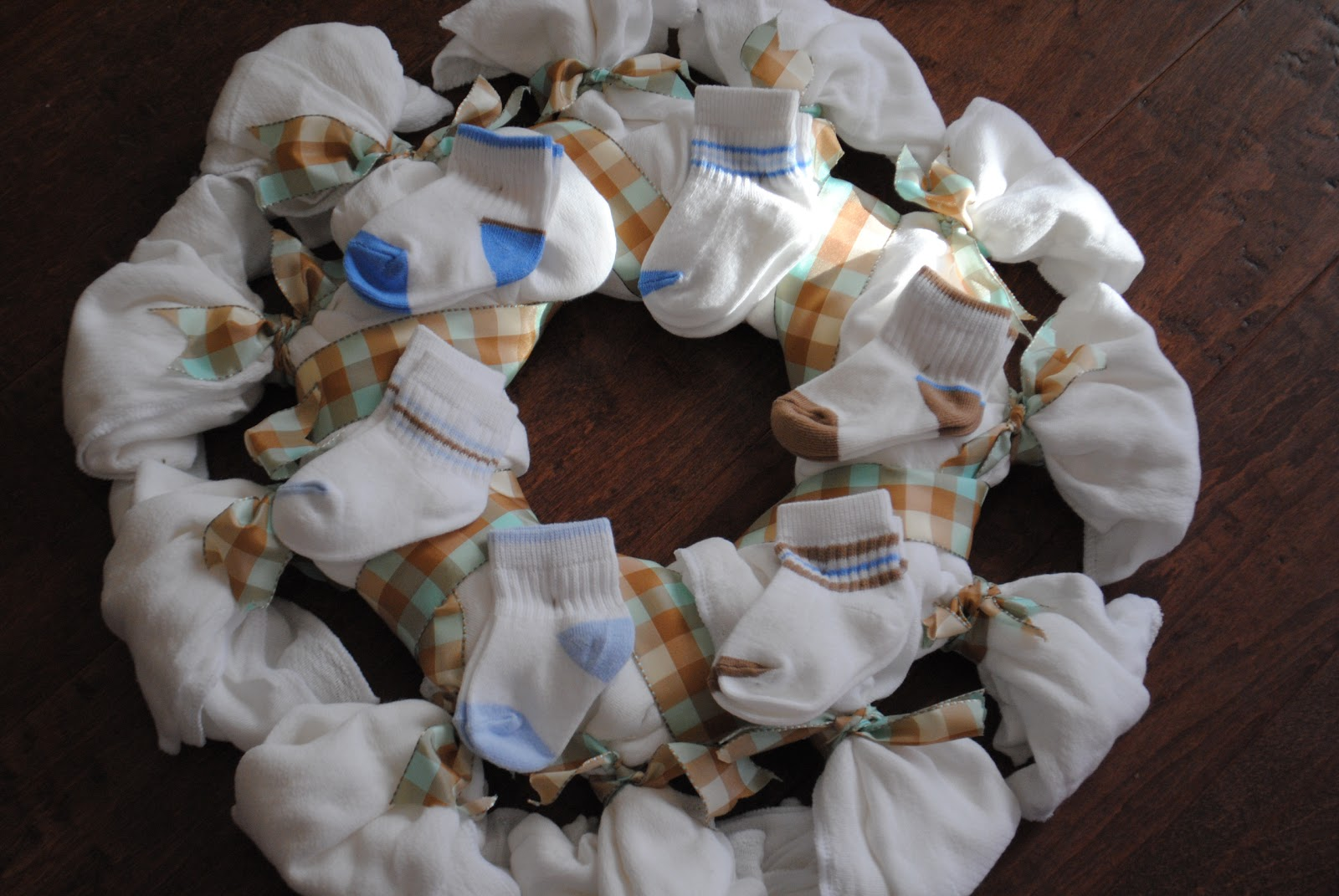 calico and cupcakes baby shower wreath