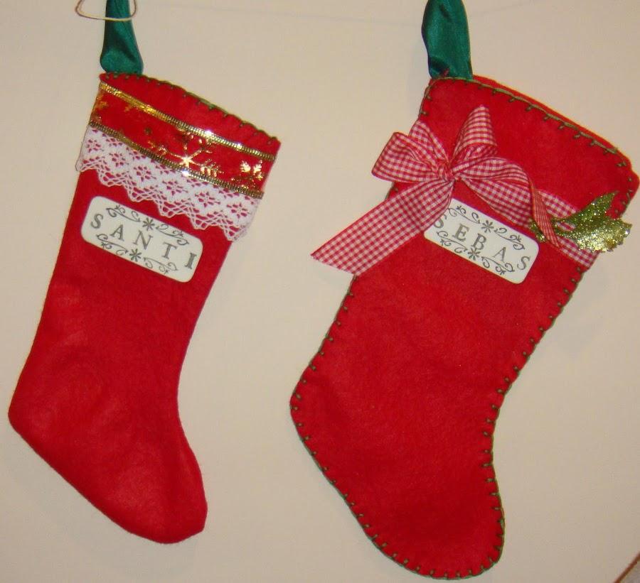 Botas de navidad de fieltro - Manualidades para navidades ...