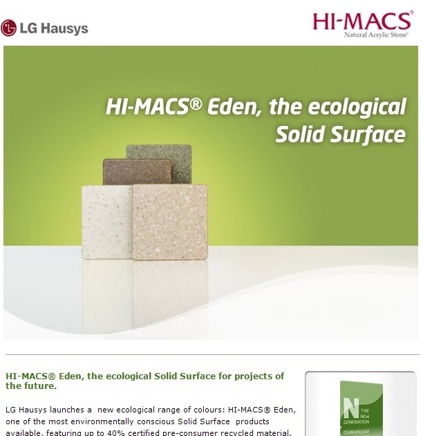 The Furniture Industry Blog New HIMACS® Eden, the ecological Solid Surface # Wasbak Hi Macs_145319