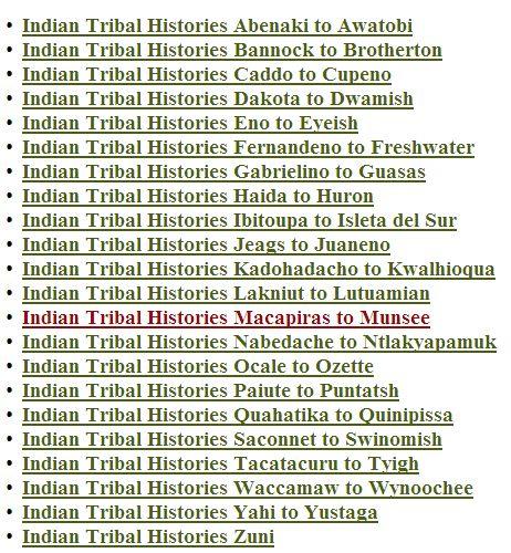Native American Research: Native American Research