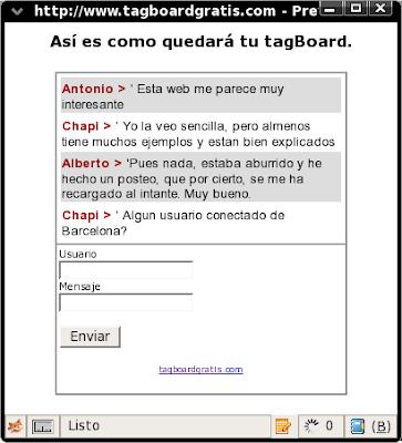 [Sugerencia] Tagboard MinichatTagboardgratis