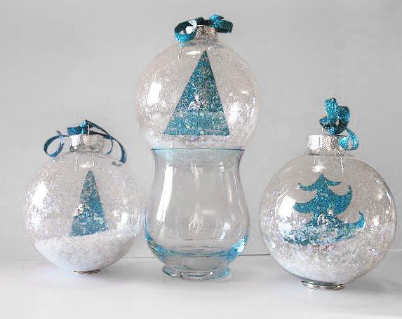 Artglitterblog art glitter tree ornaments by jan hennings for Glass christmas balls crafts