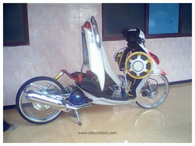modifikasi motor mio sporty black terkeren