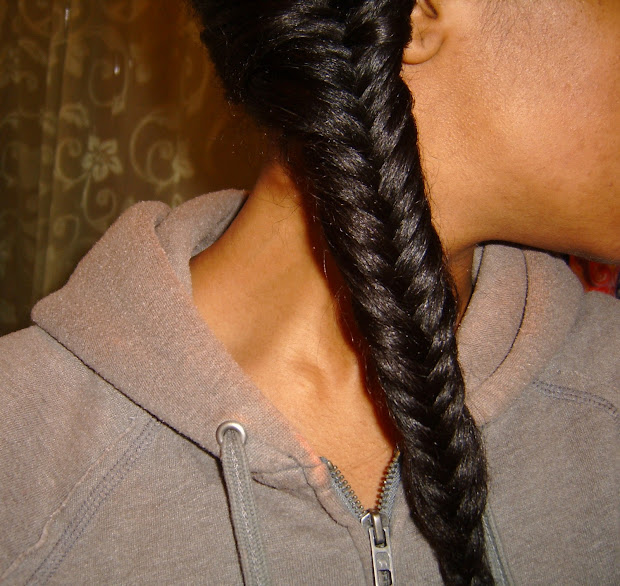 fishtail braid straight natural