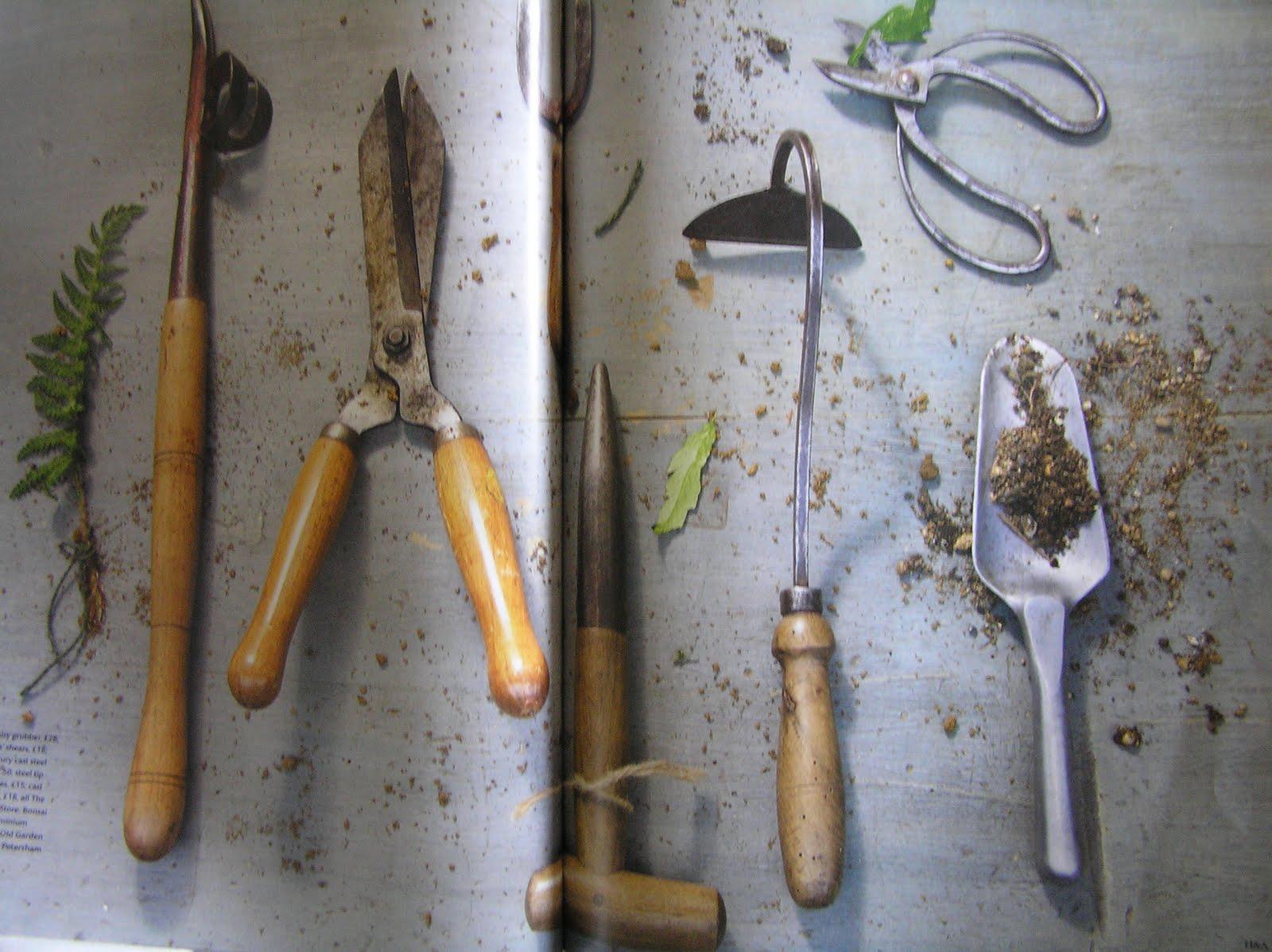 Antique English Garden Tools For The Tasmanian Gardens