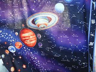 Village books and crafts dragonfly daze and other fabrics for Solar system fabric