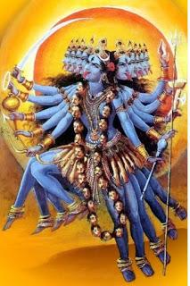 goddess chandika dancing violently