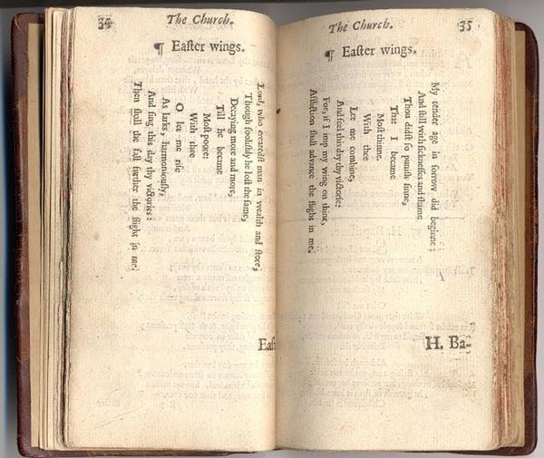 george herbert shaped poems essay