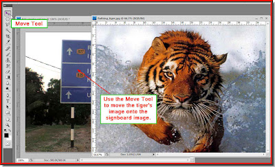 photoshop how to move an image