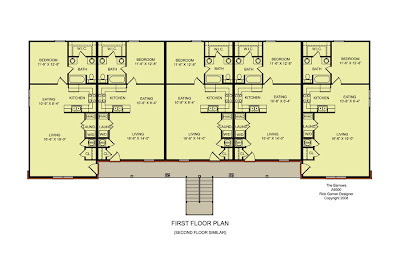 Unit apartment building plans unit b 3 bedroom s 2 bath 2 unit building plan