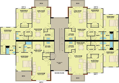 Modern 2 Bedroom Apartment Floor Plans