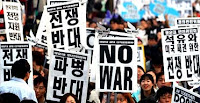 Anti-war protest in Korea.